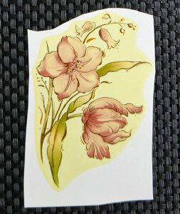 LOT DE 3 FLEUR AVEC TOUCHES D'OR - 100/65
